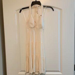 Cream halter dress